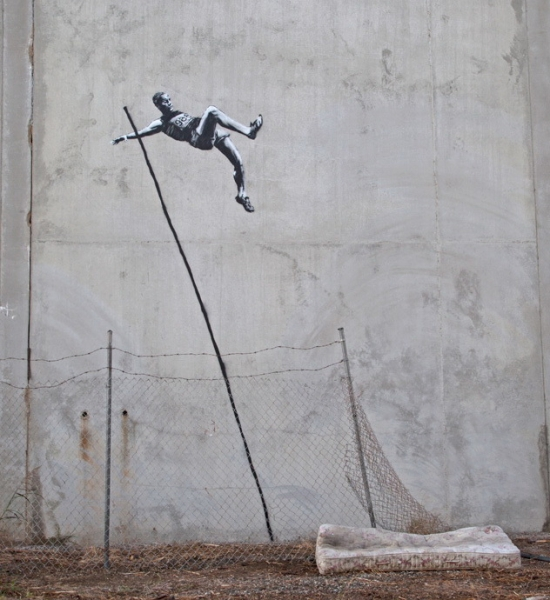 Banksy - Pole Vault Jumper